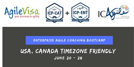 ICAgile Enterprise Agile Coaching Bootcamp (ICP-CAT + ICP-ENT) by Sabine Khan (9 days bootcamp) tickets