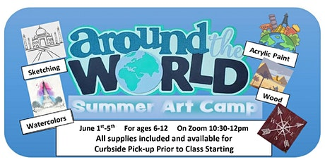 Around the World Summer Art Camp, from Home tickets