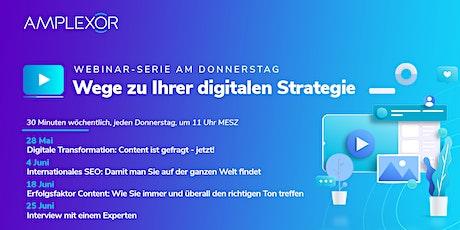 Webinar-Serie am Donnerstag: Wege zu Ihrer digitalen Strategie Tickets