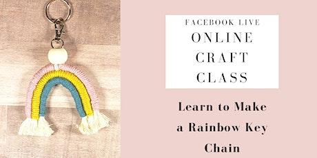 Online Craft Class Macrame Rainbow tickets