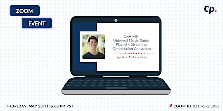 Online Q&A w/ Universal Music Group (UMG) Playlist + Streaming Consultant tickets
