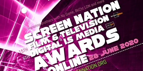 SCREEN NATION AWARDS 2020 GO VIRTUAL!! tickets