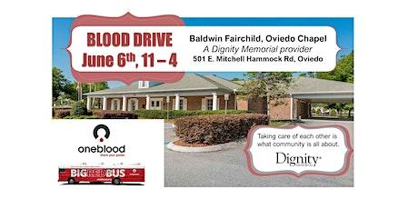 Blood Drive, Baldwin Fairchild Oviedo Chapel tickets