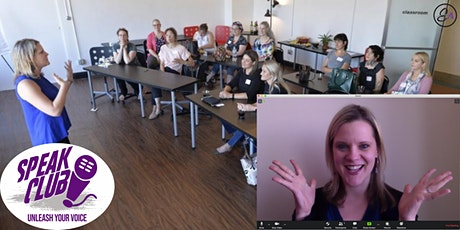 Speak Club Online!  A Public Speaking Boot Camp for Women tickets