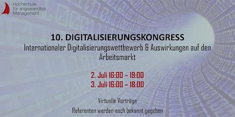 10. Digitalisierungskongress der Hochschule für angewandtes Management Tickets