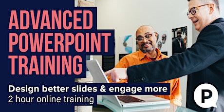 Advanced PowerPoint Training - Design better slides tickets