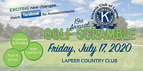 2020 Kiwanis Club of Lapeer Golf Scramble tickets