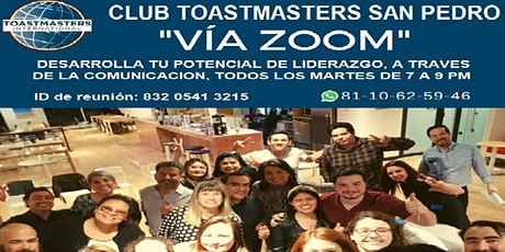 CLUB TOASTMASTERS SAN PEDRO boletos