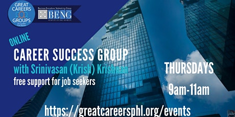 ONLINE ZOOM Career Success Group Meeting on Thursdays tickets