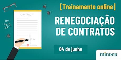 [Treinamento online] Renegociação de contratos ingressos