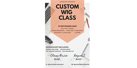 Hands-on Wig Making Class tickets