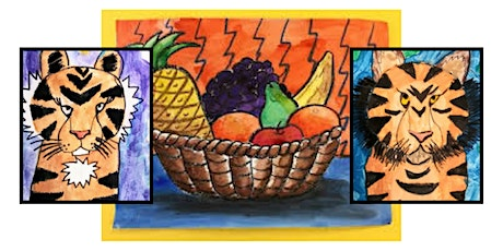 Lions and Tigers and...Fruit! Kids Art Class tickets