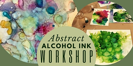 Abstract Alcohol Ink with Gold Leaf Creative Workshop tickets
