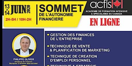 Sommet de l'autonomie financière billets