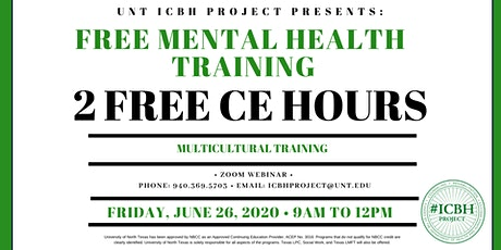 UNT ICBH Project Presents: Multicultural Summer 2020 Training tickets