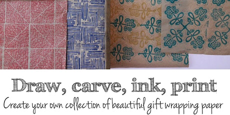 BLOCK PRINTING, Create your own beautiful gift wrapping paper tickets
