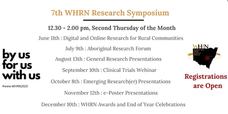 WHRN Symposium Webinar - Digital and online research for rural communities  tickets