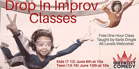 Drop In Improv Classes for Kids! tickets