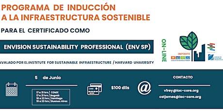 Webinar:  Inducción a la infraestructura sostenible de Envision SP entradas