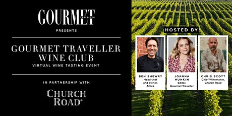 VIRTUAL WINE TASTING EVENT: GOURMET TRAVELLER & CHURCH ROAD WINES tickets