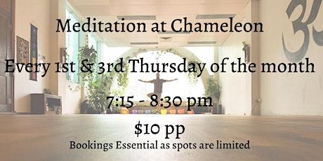 Meditation at Chameleon tickets