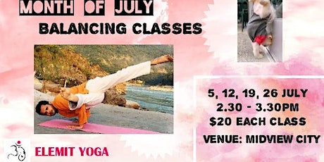 Month of July Balancing Classes tickets