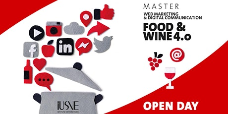 OPEN DAY Master FOOD & WINE 4.0 -  Live streaming biglietti