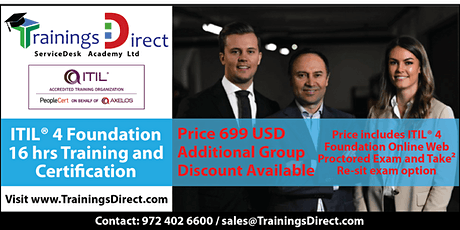 ITIL 4 Certification Online Training in USA | PeopleCert Accredited Partner tickets