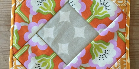 Hand Quilted Coaster Kit/Zoom session tickets