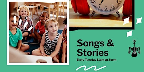 Songs and Stories: 40 minutes of kids only time while you put your feet up. tickets