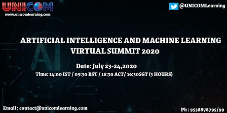 Artificial Intelligence and Machine Learning Virtual Summit 2020 tickets