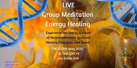 Live Group Meditation Energy Healing DNA entradas