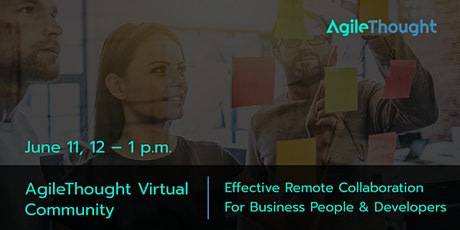 Virtual Community: Remote Collaboration For Business People & Developers tickets