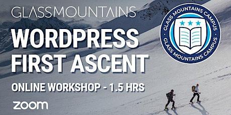WordPress training - hands on, online workshop tickets