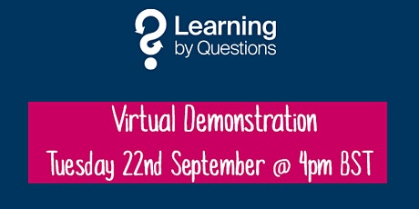 Learning by Questions invites Bury schools to a virtual demonstration tickets