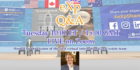 LIVE eXp Q&A - Honest Thoughts & Opinions tickets