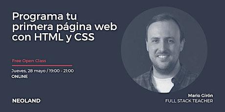 Programa tu primera página web con HTML y CSS entradas