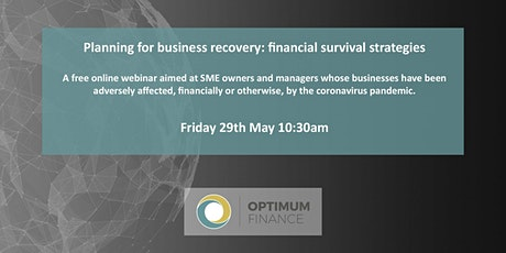 Business recovery: financial strategies for SMEs in the post Covid-19 world tickets