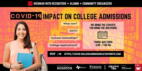 Ask College Admissions Reps: UH, UT-Dallas, and Purdue University tickets