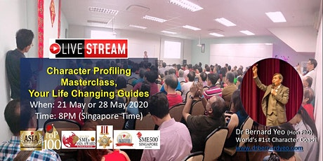 LIVE STREAM: Character Profiling Masterclass, Your Life Changing Guides tickets