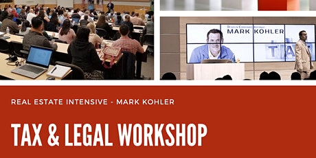 Boston - Tax & Legal Workshop Mark Kohler tickets