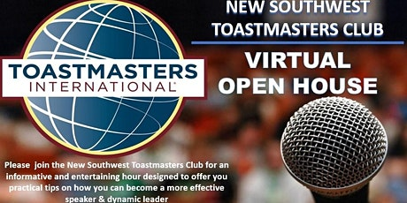 "New Southwest Toastmasters Club ""Virtual Open House"" tickets"