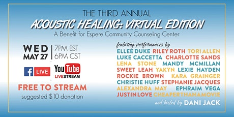 Third Annual Acoustic Healing Benefit - Virtual Edition tickets