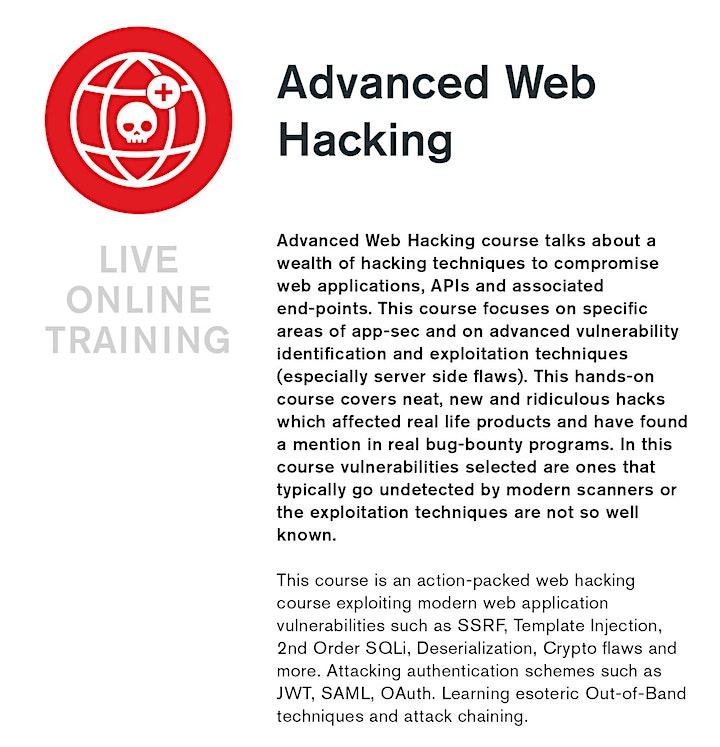 Advanced Web Hacking - Live Online Training image