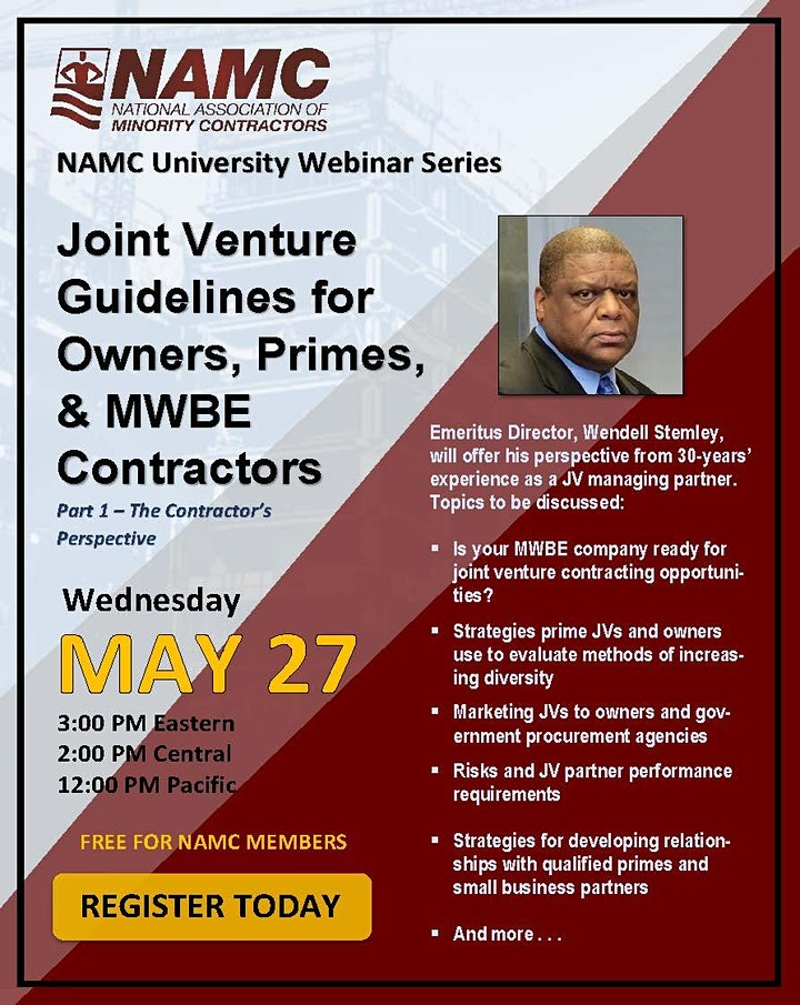 NAMC Webinar Series: Joint Venture Guidelines (Part One) image