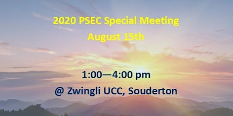 2020 PSEC Special Meeting tickets