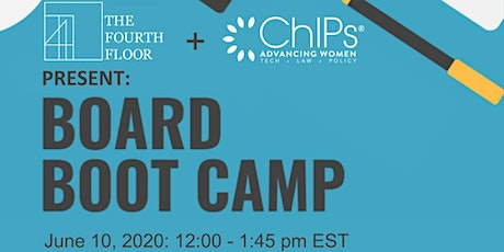 Board Boot Camp: How to get on a board or form an ideal advisory board - C tickets