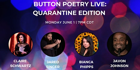 Button Poetry Live: Quarantine Edition | June 1 tickets
