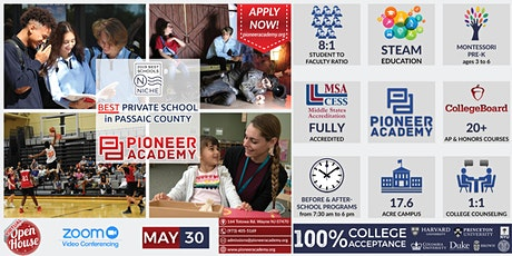 Pioneer Academy Virtual Open House PK-12 Open House - 5/30 - ZOOM ONLINE tickets