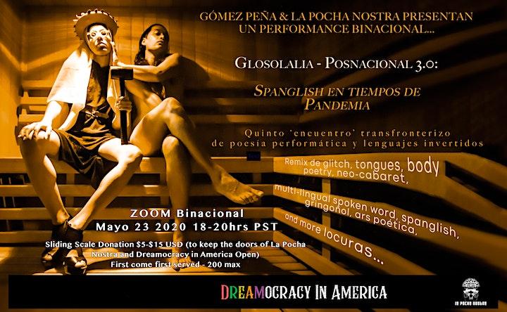 Glosolalia Posnacional 3.0:  Spanglish en tiempos de Pandemia image